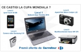 un netbook Asus Timeline 3810, un iPod Touch 32 GB, un aparat foto Nikon Coolpix L22, o camera video Samsung U10, o muntifunctionala Canon MP 270