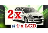 2 x autoturism marca Dacia Logan, un televizor LCD
