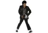 Costum Michael Jackson, Set Michael Jackson (peruca, manusa, palarie), Manusi MJ sau Peruca MJ (la alegere), Set de bratari si coliere fosforescente