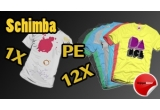 10 tricouri + doua genti
