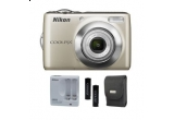 un aparat foto Nikon COOLPIX L21 + husa de protectie + acumulatori + incarcator