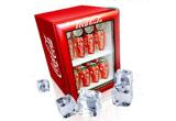4 x minifrigider plin cu cutii 0.33L Coca-Cola, 100 x cd colectie