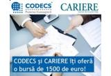 o bursa in valoare de 1.500 de euro la Certificatul Profesional in Management