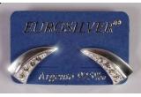 o pereche de cercei din argint cu pietre zirconia