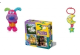 o jucarie plus zornaitoare cu scai de agatare -catel, un puzzle copii, o jucarie muzicala plus Luna