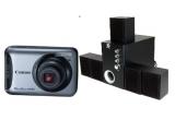 un aparat foto digital Canon PowerShot A490, un sistem audio 5.1 Serioux Enviro 5100