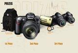 un aparat foto Nikon D90, un aparat foto Nikon D5000 Digital SLR, un aparat foto Nikon D3000 Digital SLR