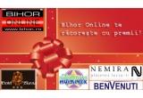 un weekend romantic la Hotel Slavia, 2 x voucher de 300 de lei de la Benvenutti, 2 x invitatie dubla la cinema Hollywood Multiplex Oradea, un set de carti de la Editura Nemira