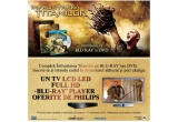 un TV LCD LED Full HD + blu-ray player