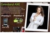 un iPod touch 8GB, 11 x USB AXE, 50 x kit-Axe (deodorant Axe 150ml + gel de dus Axe 250ml + puf de dus Axe)