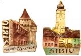 un magnet de frigider cu Sibiu