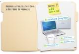 un laptop Sony VAIO M12M1, 30 x serviciu CV Premium, 30 x serviciu BestJobs Direct, 30 x tricou BestJobs