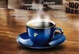 4 x 2000 euro, intreaga gama Tchibo 100% Arabica / saptamana, 100 x un pachet de cafea cu ceasca + o farfurie Tchibo