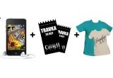 un iPod Touch (8GB) + 2 bilete la concertul Travka din Silver Church + acces backstage + 2 tricouri din catalogul Bumbac 100 la alegere