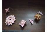 o decoratiune origami: Spirala + Mandala + Fluturasi + Ostrum