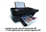 10 x imprimanta HP + un set de cartuse originale HP