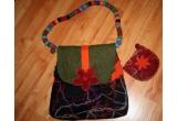 o geanta hand made + un portofel