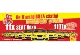 11 x masina Seat Ibiza, 1111 x bon valoric 100 de lei