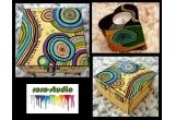 o cutie de bijuterii + un suport de lumanare pictate manual