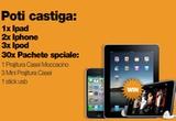 un Apple Ipad 64 GB 3G, 2 x Iphone 4 16 GB, 3 x Ipod nano 8 GB, 30 x pachet special