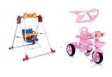 o tricicleta Bertoni + un scaunel - leagan Bertoni pentru bebelusi / saptamana