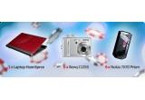un laptop HannSpree, 6 x o camera foto BenQ C1255, 6 x telefon mobil Nokia 7070 Prism