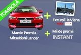 o masina Mitsubishi Lancer, 4 x excursie la Viena, 3 x laptop Lenovo, premii instant