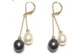colier & cercei Amour Crystallized + Bratara Golden Crystallized, bratara Crystal Goldy cu Crystallized, cercei perle Black - White Tahitian Pearl