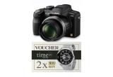 un aparat foto Panasonic, 2 x voucher de 800 RON pentru achizitionarea oricarui ceas de pe site-ul www.time24.ro