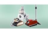 un aspirator, un fier de calcat, un robot de bucatarie