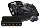 un set Logitech Cordless Desktop Wave Pro, un router D-Link Dir 600