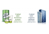 2 x set DKNY Be Delicious - parfum 50 ml + lotiune de corp 100 ml, 2 x set DKNY Fragrance - parfum 50 ml + gel de dus 150 ml
