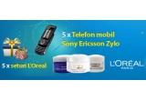 5 x telefon Sony Ericsson Zylo, 5 x set L'Oreal