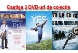 """1 x set de 3 DVD-uri cu filmele """"Yesman"""" + """"Dr. T si femeile"""" + """"Steaua Nordului"""""""