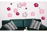 "un set de stickere decorative ""Hibiscus"""