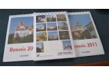 3 x calendar de birou cu imagini reprezentative din Romania, 8 x magnet cu imagini reprezentative din Romania