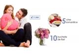 5 x cina romantica, 10 x buchet de flori