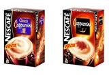 o cutie de Capuccino NESCAFE, o cana NESCAFE