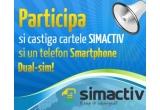 1 x telefon mobil Motorola EX115 Dual Sim Titanium cu o cartela Simactiv cu 10 USD credit, 1 x cartela Simactiv cu 20 USD credit, 2 x cartela Simactiv cu 10 USD credit, 3 x cartela Simactiv