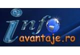 1 x pachet cu 2000 RON + oportunitate job in echipa Info Avantaje, 1 x pachet 200 RON + hosting gratuit pe viata al unui domeniu pe serverele Info Avantaje