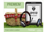 1 x eBook Reader Prestigio, 1 x mp3 Player Canyon, 1 x set de casti Prestigio