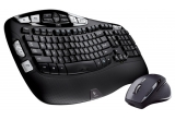 un kit cu tastatura si mouse Logitech Cordless Desktop Wave Pro