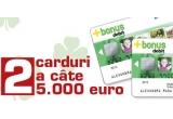 2 x card de 5000 euro, 5 x 500 euro, 2 x masina Suzuki Swift, alte premii