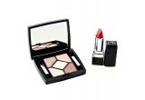 un set de make-up cu farduri + ruj Dior