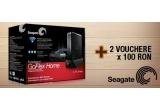 1 x hard disk extern Seagate FreeAgent GoFlex Home 1TB, 2 x voucher de 100 RON pe pcgarage.ro