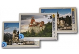 2 x puzzle 500 de piese (Castelul Peles), 1 x puzzle 500 de piese (Castelul Bran)