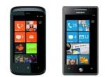 1 x mobil Samsung OMNIA 7, 1 x mobil HTC 7 Mozart