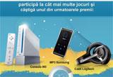o consola Nintendo Wii Sports Pack, un MP3 Player Samsung YP-K3JAB,o pereche de casti Logitech Digital Precision cu microfon