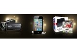 1 x Ipod Touch 4G 64 GB, 1 x Consola jocuri PlayStation3 + joc FIFA 11 PS3, 1 x Camera video HD Sony