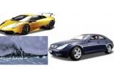 1 x macheta Corabia Bismark, 1 x macheta Mercedes Mclaren SLR, 1 x macheta Lamborghini MURCILEAGO LP670-4SV